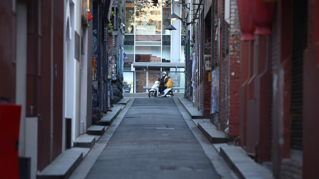 Health officials have hinted at when Melbourne's lockdown could end. Picture: NCA NewsWire / David Crosling
