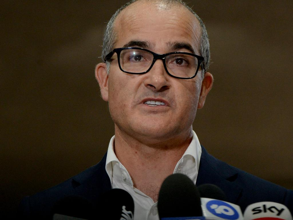 Victorian Acting Premier James Merlino announces an extension to lockdown for greater Melbourne. Picture: NCA NewsWire/Andrew Henshaw