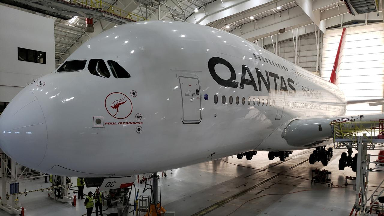 Rattle snakes are making homes of Qantas A380s parked in the Mojave Desert in California. Picture: Supplied