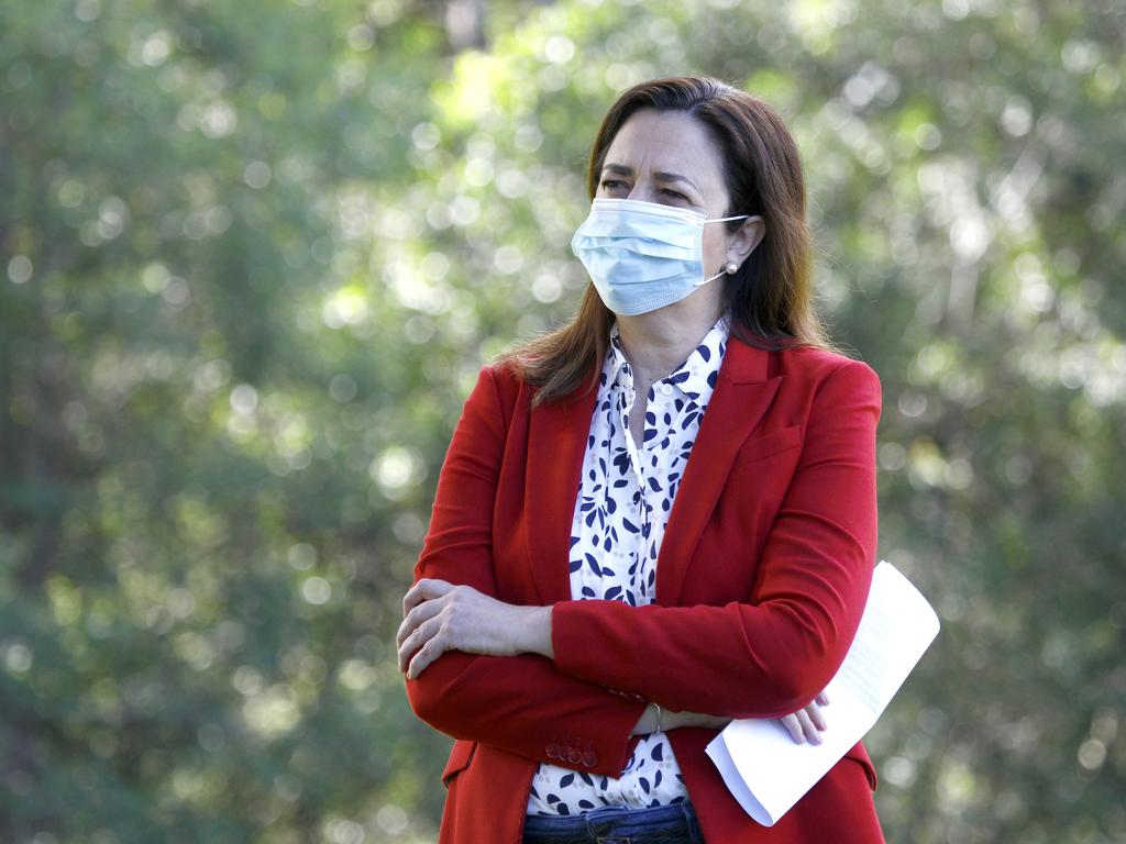Queensland Premier Annastacia Palaszczuk has repeatedly called for a dedicated purpose-built regional quarantine facility to keep Covid-19 out of metropolitan communities. Picture: NCA NewsWire/Tertius Pickard