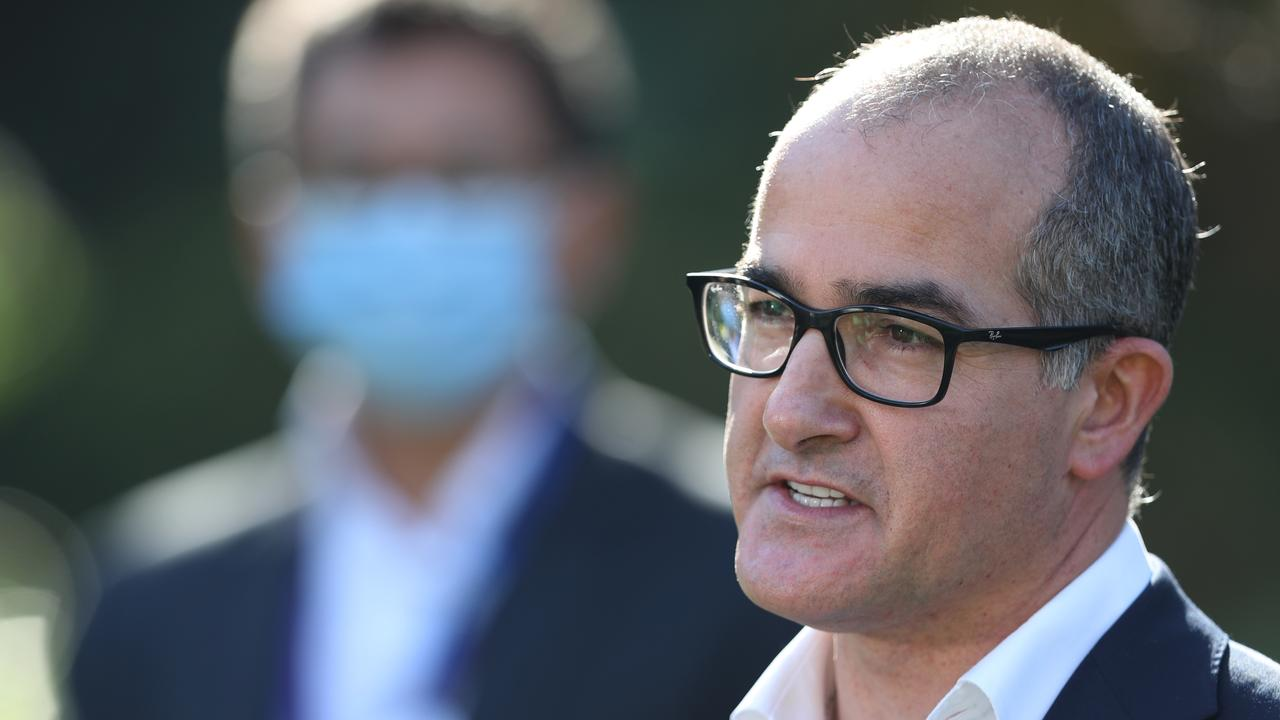 Acting Premier James Merlino says extra police patrols will stop Melburnians fleeing the city's lockdown. Picture: NCA NewsWire / David Crosling