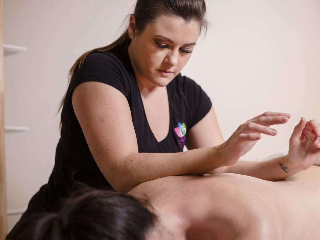 Exercise scientist and remedial massage therapist Georgina Turelli says easy stretches and exercises can help remote workers. Picture: Supplied