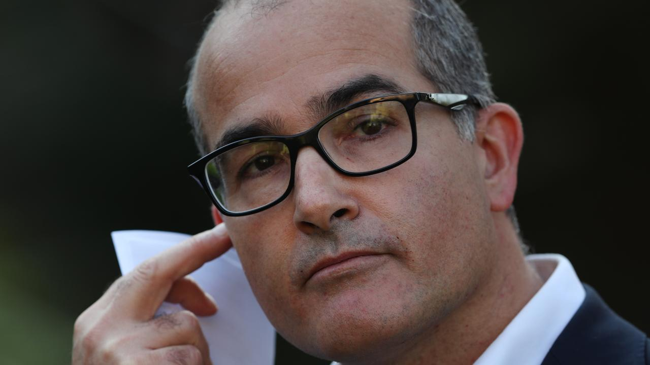 Acting Premier James Merlino said the slow spread of the virus would depend on people following the rules. Picture: David Crosling / NCA NewsWire
