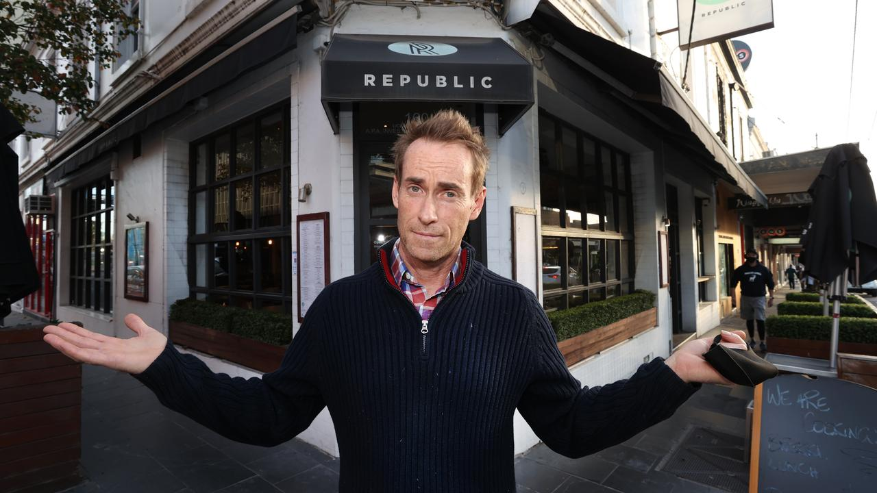Paul Bellette, owner of South Yarra's Republic cafe, is enduring yet another lockdown. Picture: David Caird