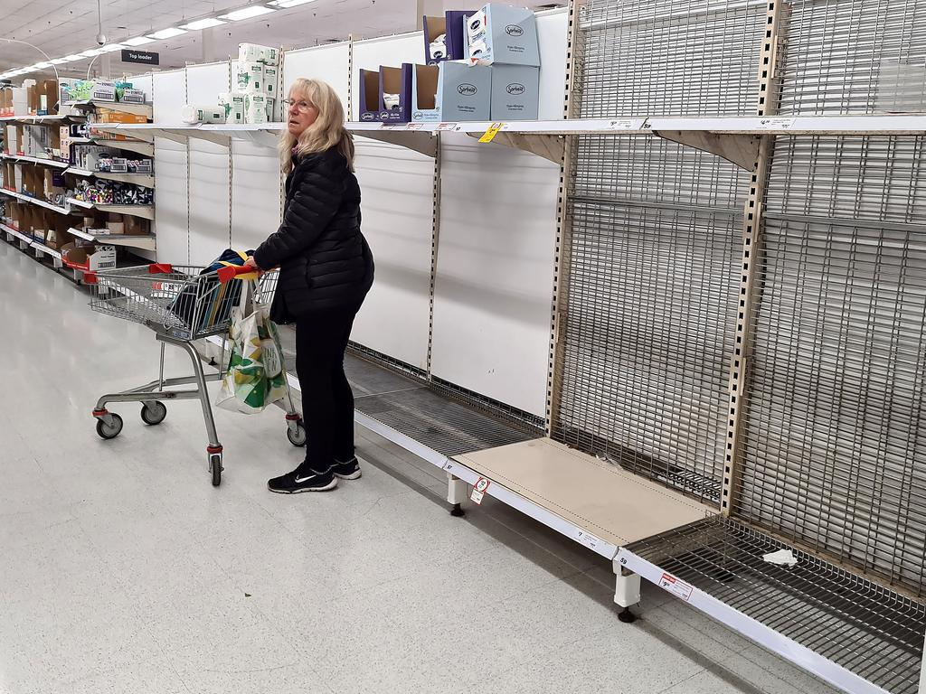 Supermarket shelves across the nation have at times been bare since the Covid-19 pandemic began. Picture: Alison Wynd