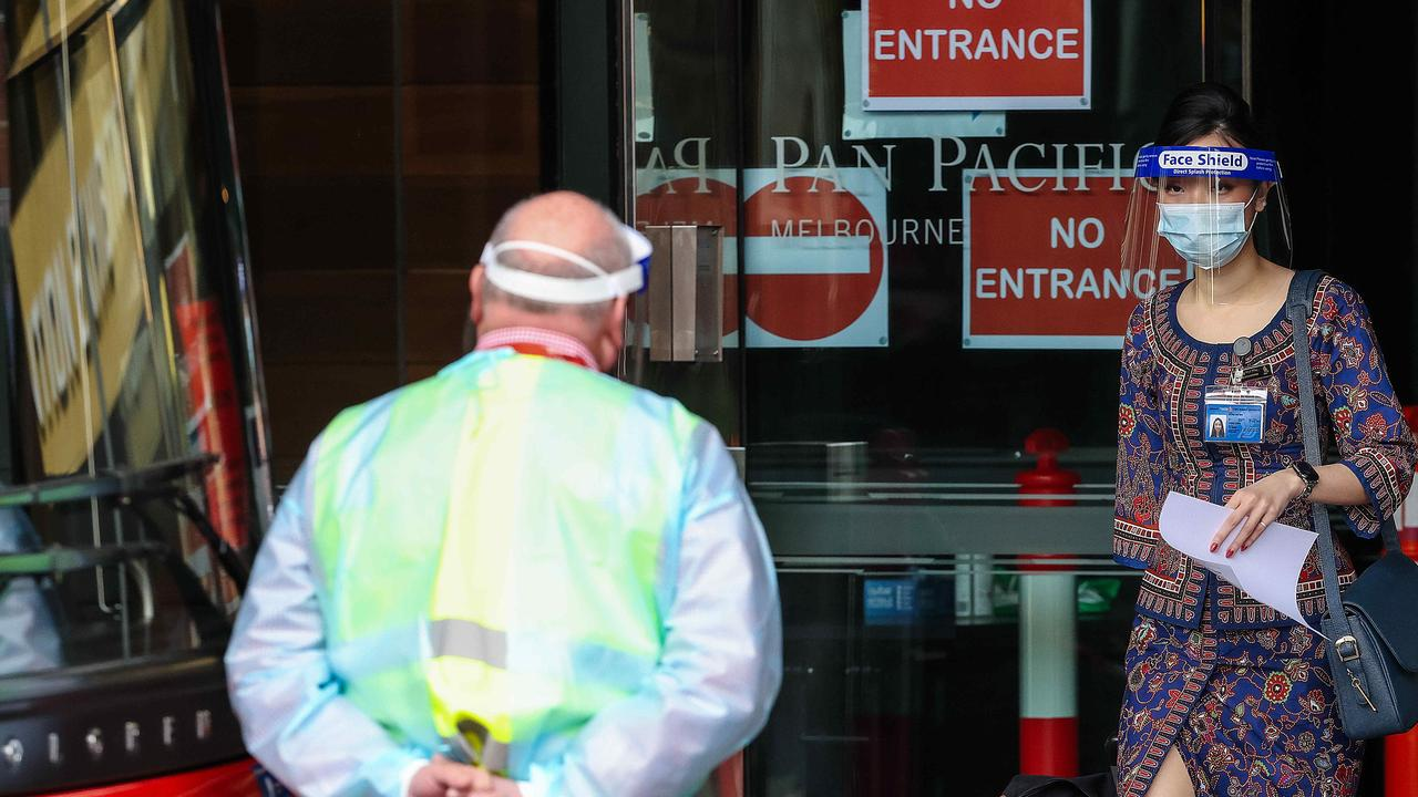 New analysis has found there is one hotel quarantine leak per 204 infected travellers in Australia. Picture : NCA NewsWire / Ian Currie