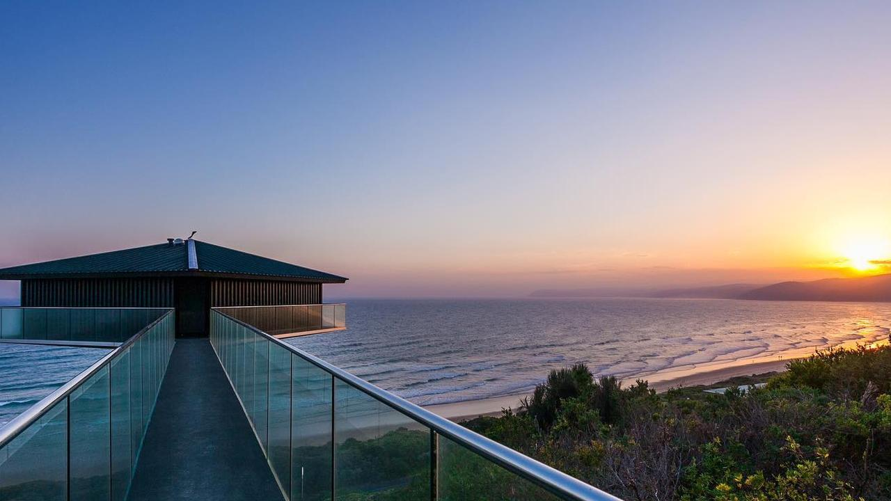 Surrounded by panoramic views, and supported by a single pole, this house in Victoria has been named by one billionaire as the best in Australia.
