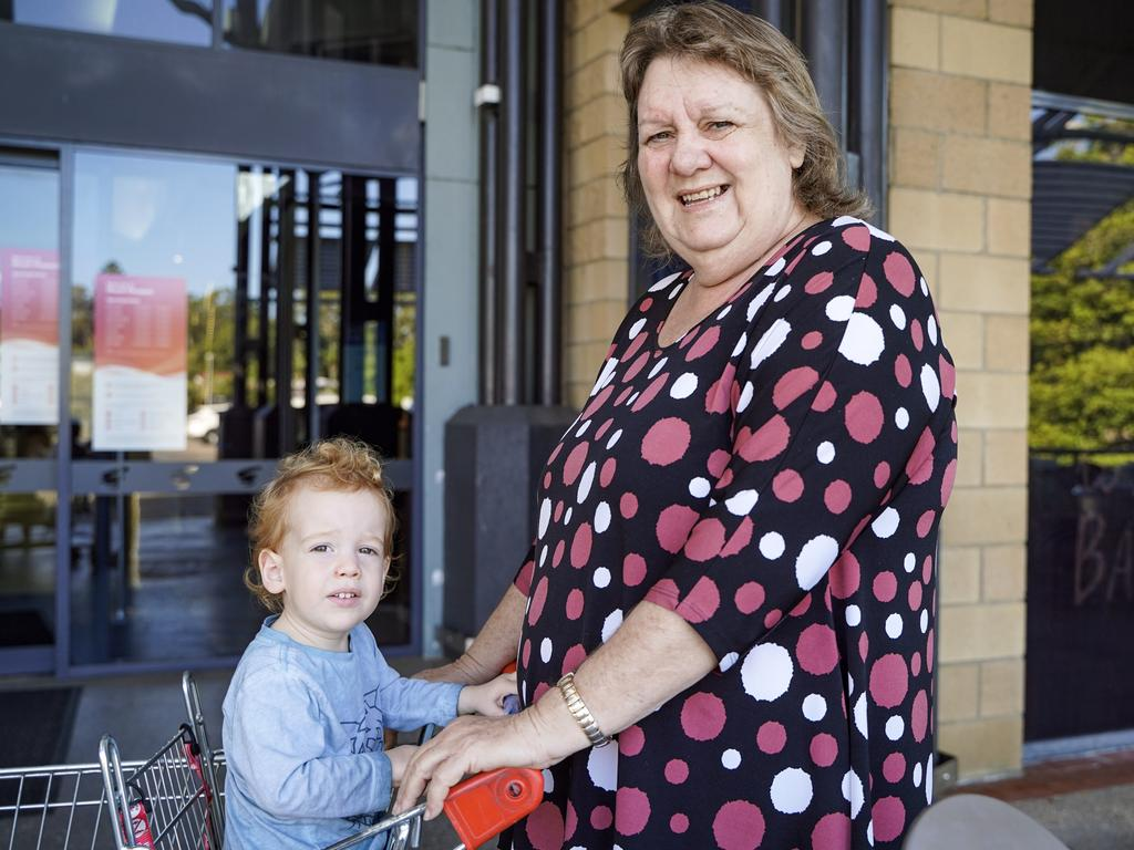 Rural View resident Leonie Chataway, pictured with grandson Korbin Hulme-Moir, 2. Picture: Heidi Petith