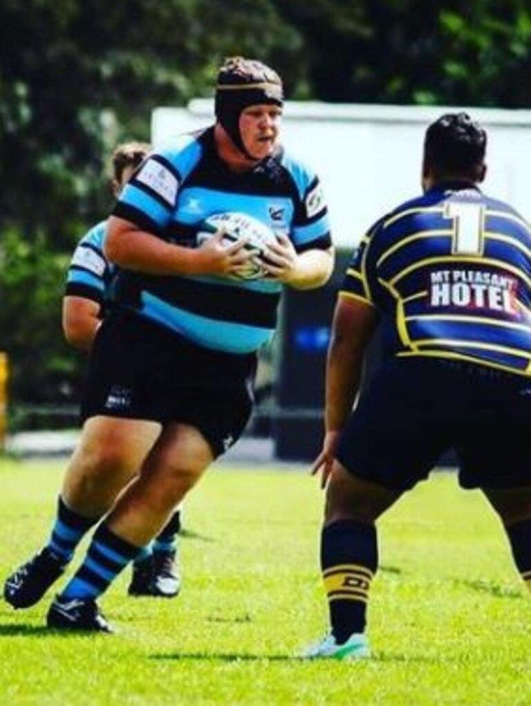 Joel Lyndon has a run for Maroochydore Swans reserve grade. Picture: Joel Lyndon Instagram
