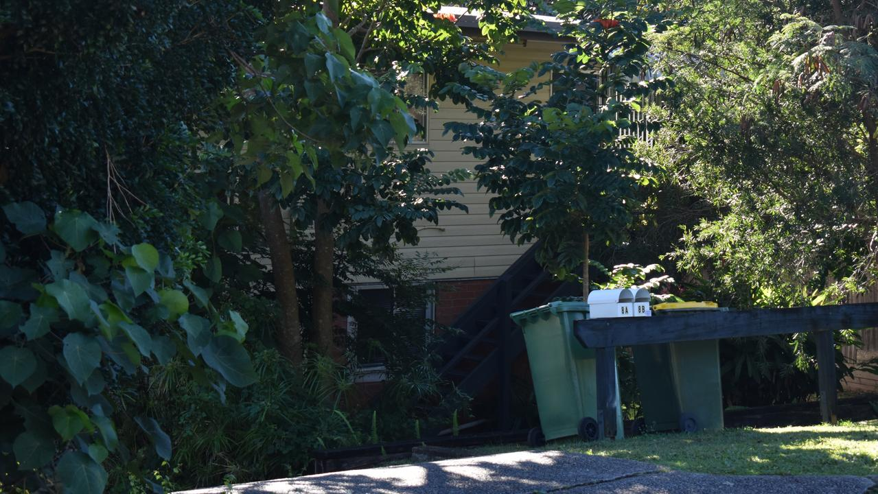 A man is in hospital after an alleged machete attack at a Booral Street house on Thursday night. Picture: Maddie Manwaring