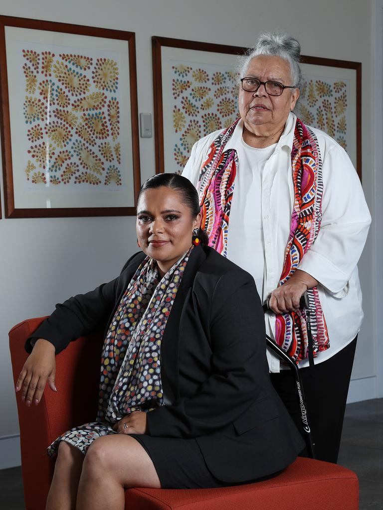 BlackCard co founders Mundanara Bayles and Dr Lilla Watson help organisations work effectively with the Aboriginal community. Picture: Liam Kidston.
