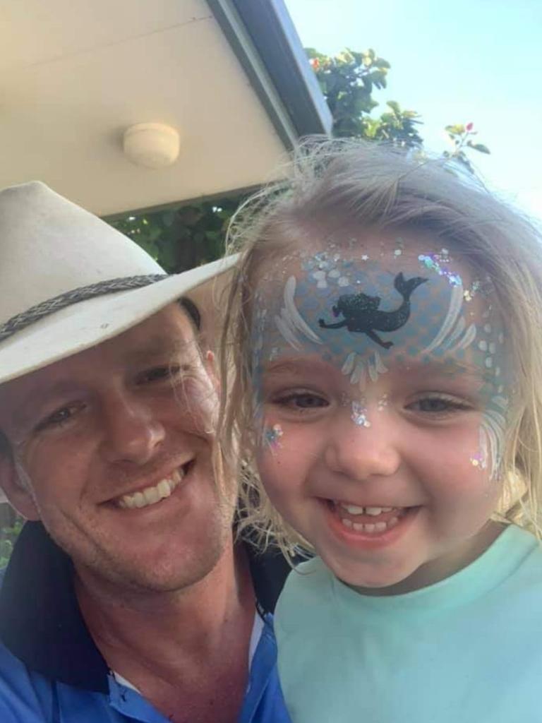 Pete Black and three-year-old Rylee Rose Black.
