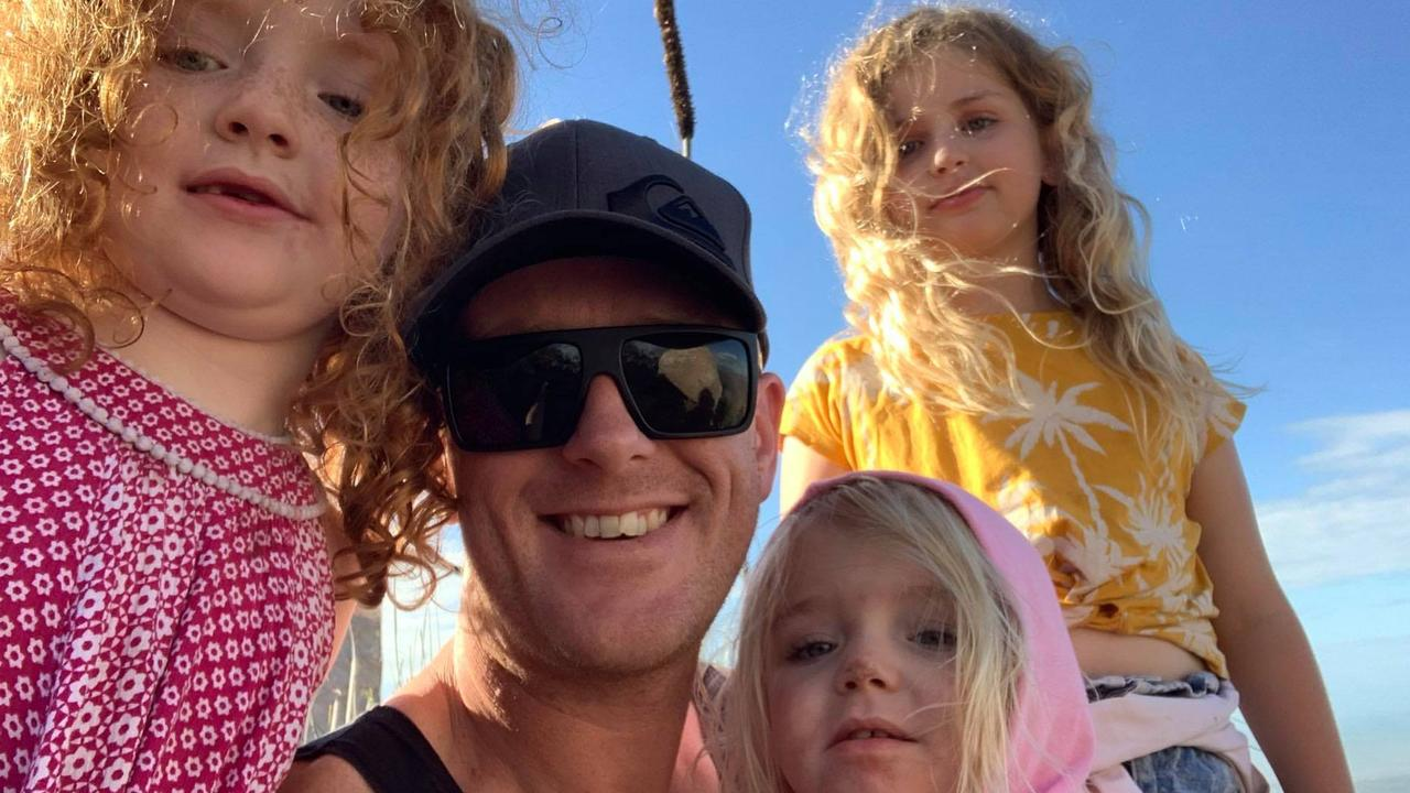 Peter Black pictured with his girls. Picture Facebook