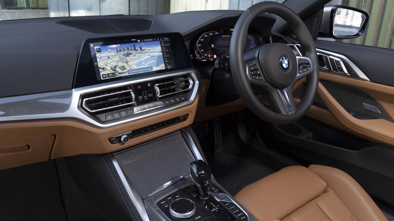 Inside the 2021 model BMW M440i.