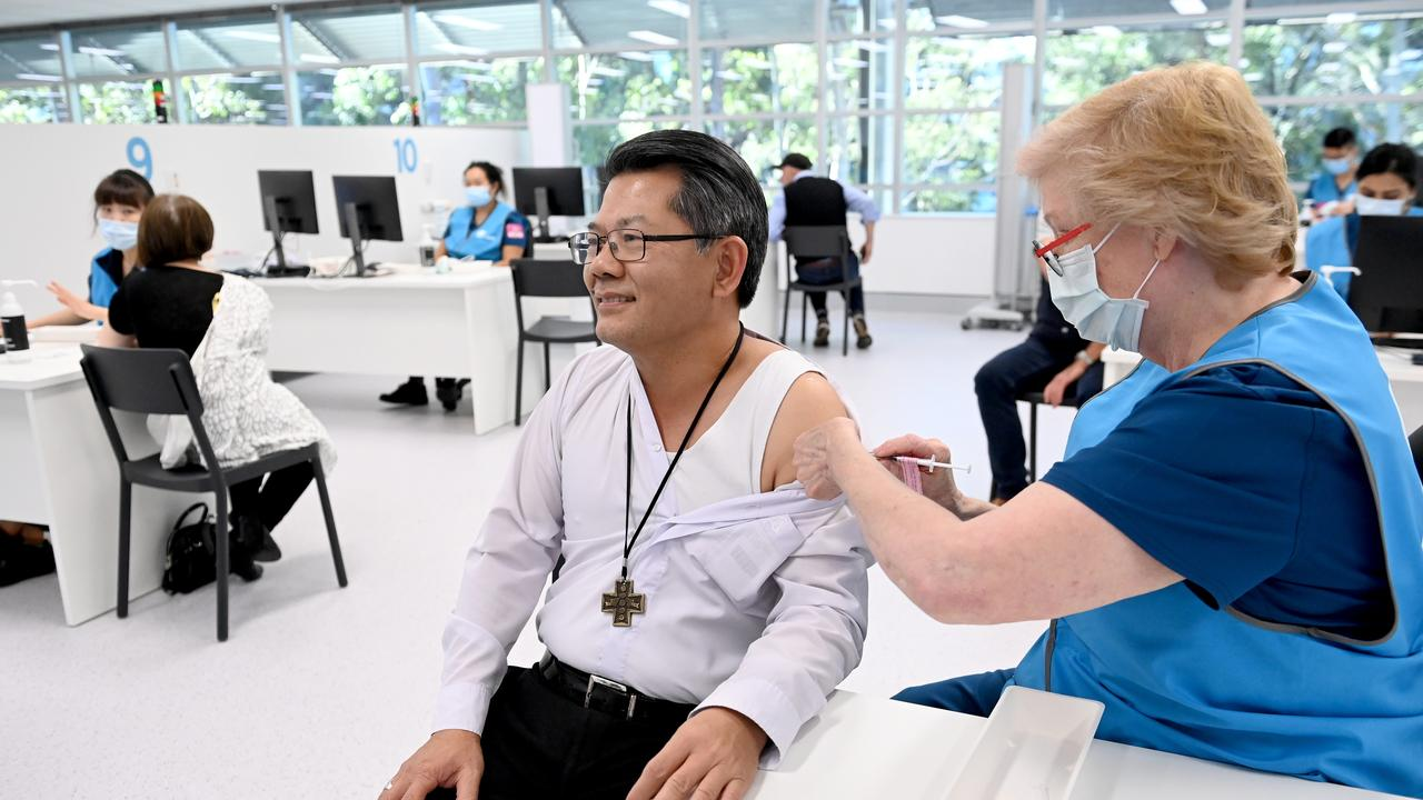 The vaccination hub at Sydney Olympic Park has been a major part of NSW Health's direct vaccination of almost half a million people. Picture: NCA NewsWire/Jeremy Piper