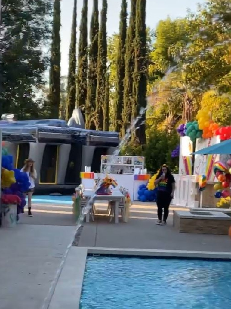 A look at the backyard Pride Party.