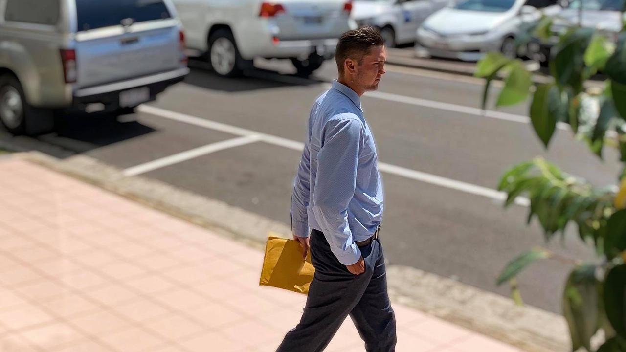 Mackenzie Liam Simpson leaves court in 2020. He was jailed on Friday for one charge of dangerous operation of a vehicle causing death.