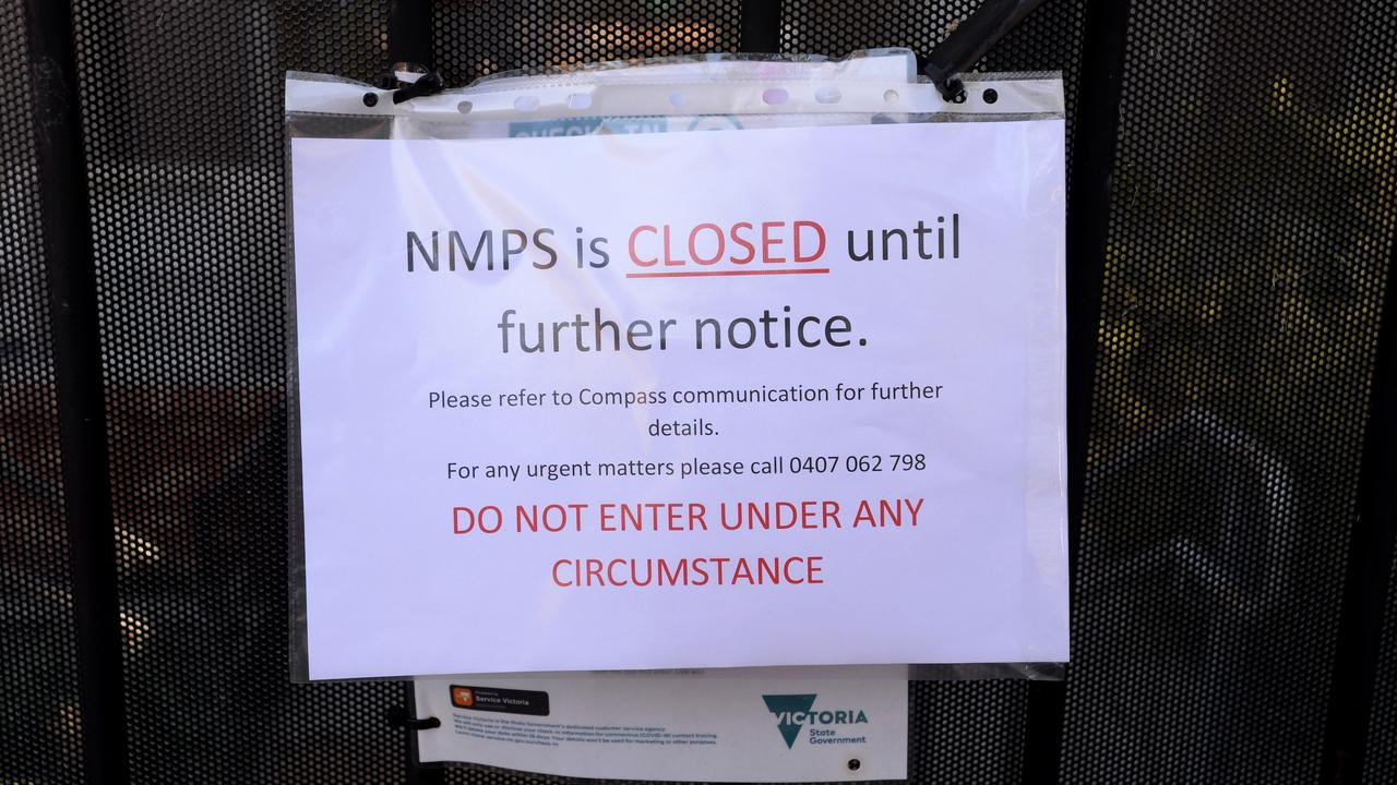 North Melbourne Primary School has been closed after two Covid infections were linked to the site. Picture: Andrew Henshaw