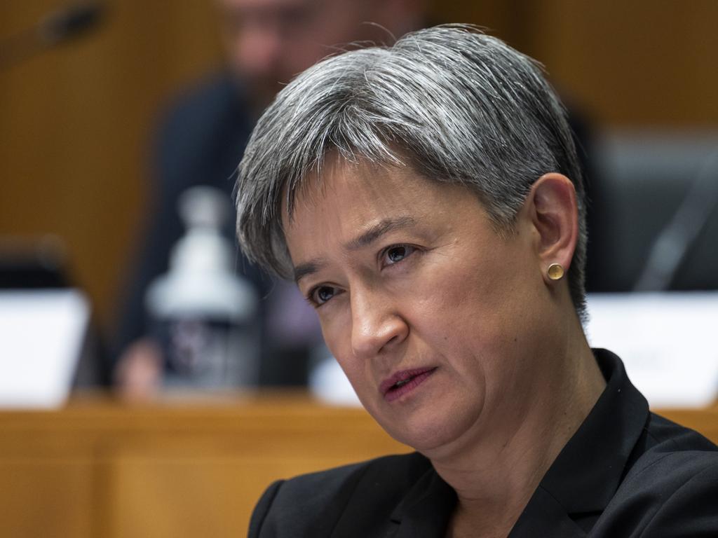 Senator Penny Wong accused Senator Linda Reynolds of playing the victim.