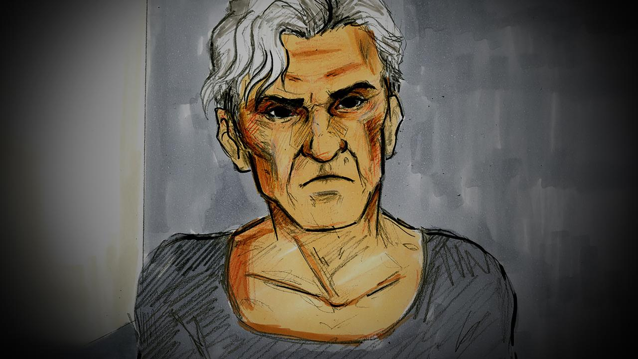 A court sketch of former AFL player and coach Dani Laidley during a bail hearing at Melbourne Magistrates Court in May. Picture: AAP Image/Nine News