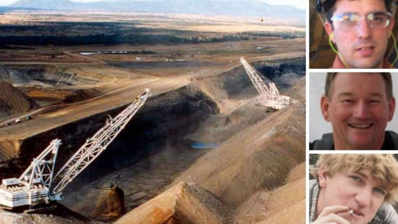 Donald Rabbitt (top), Brad Duxbury (middle) and Jack Gerdes (bottom) all died at Queensland mines. Pictures: Supplied