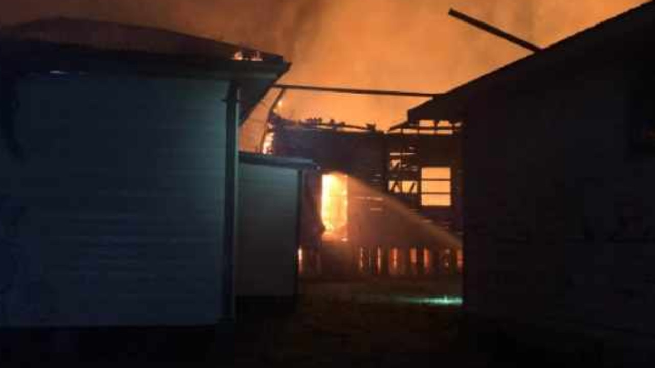 All five houses were unoccupied. Picture: Supplied by Fire and Rescue NSW.