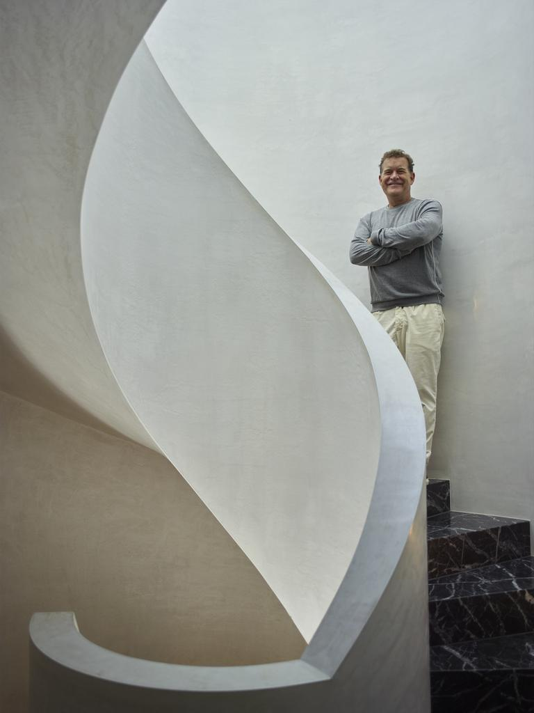 Mills and his spiral staircase.