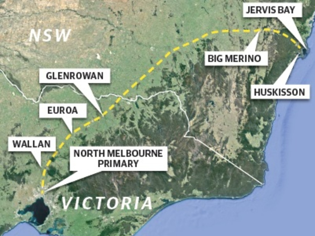 A map shows where the family at the centre of Melbourne's Delta strain cluster travelled.