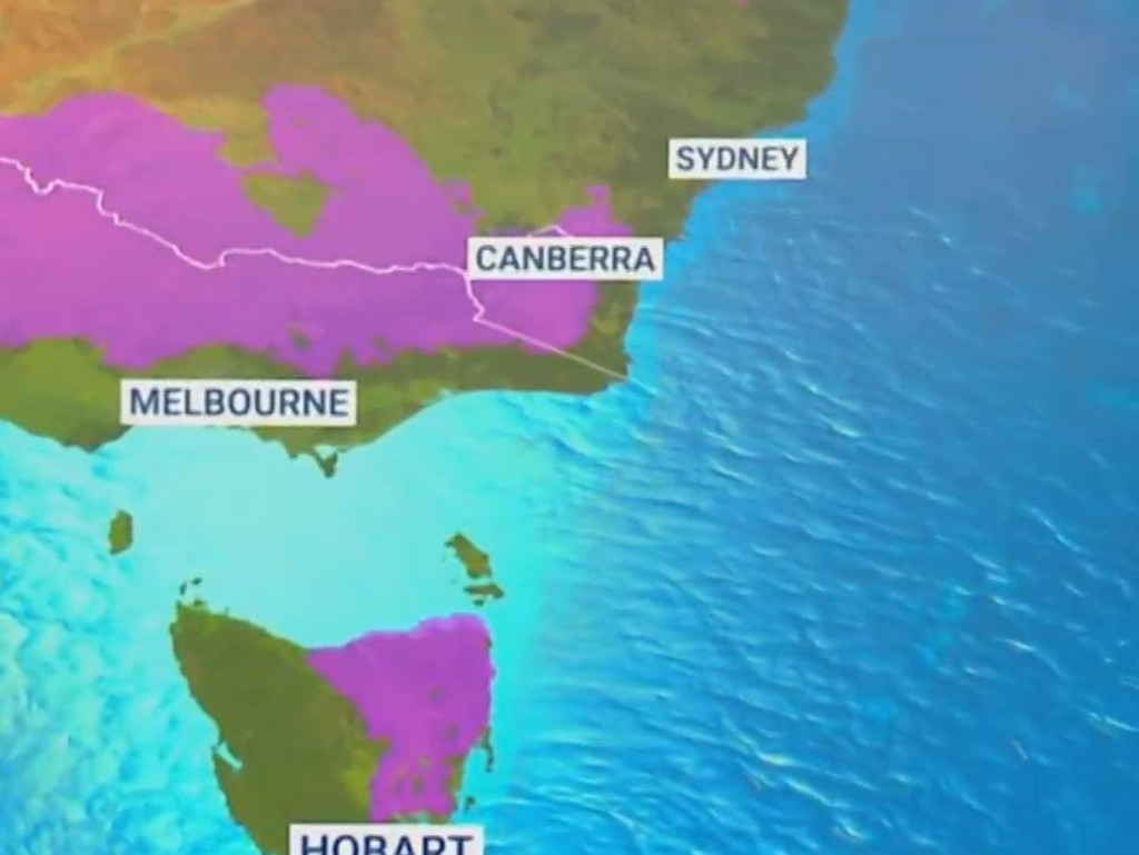 Victoria is set to get hit by a blast of chilly weather. Picture: Sky News Weather.