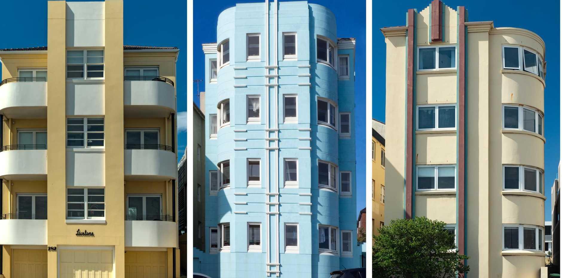 Examples of Art Deco buildings in Bondi.