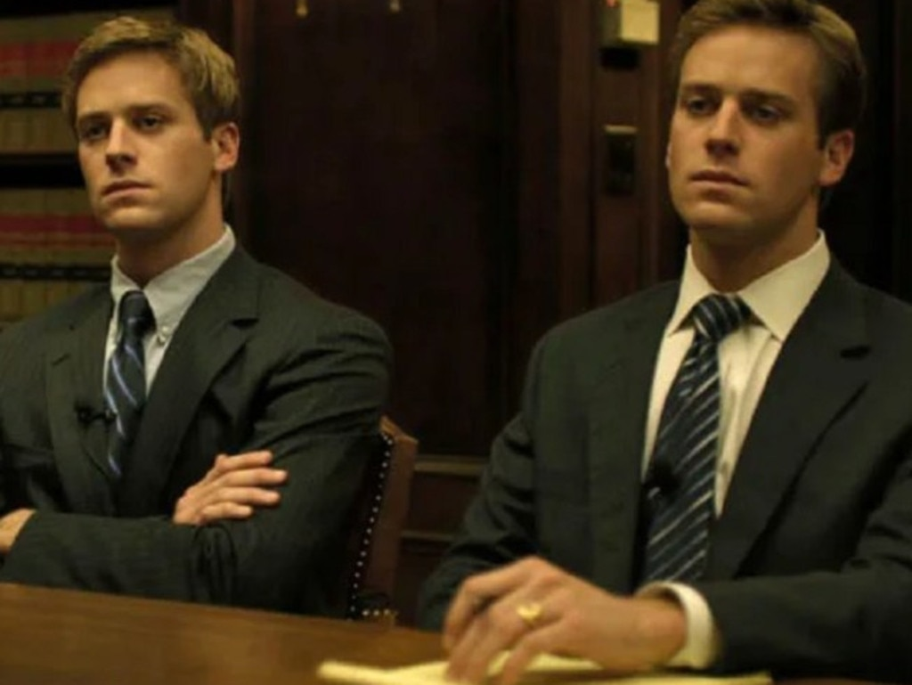 The Winklevoss twins were played by Arnie Hammer in The Social Network.