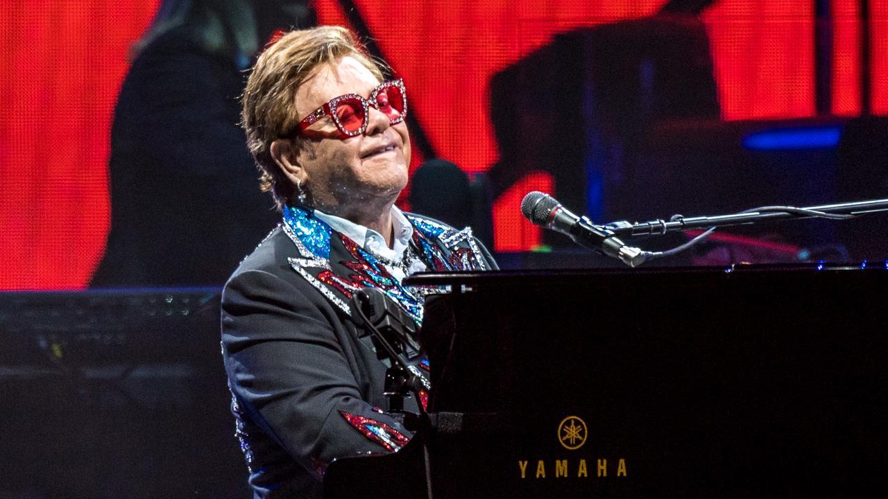 Elton John performing in Melbourne. Picture: Jake Nowakowski