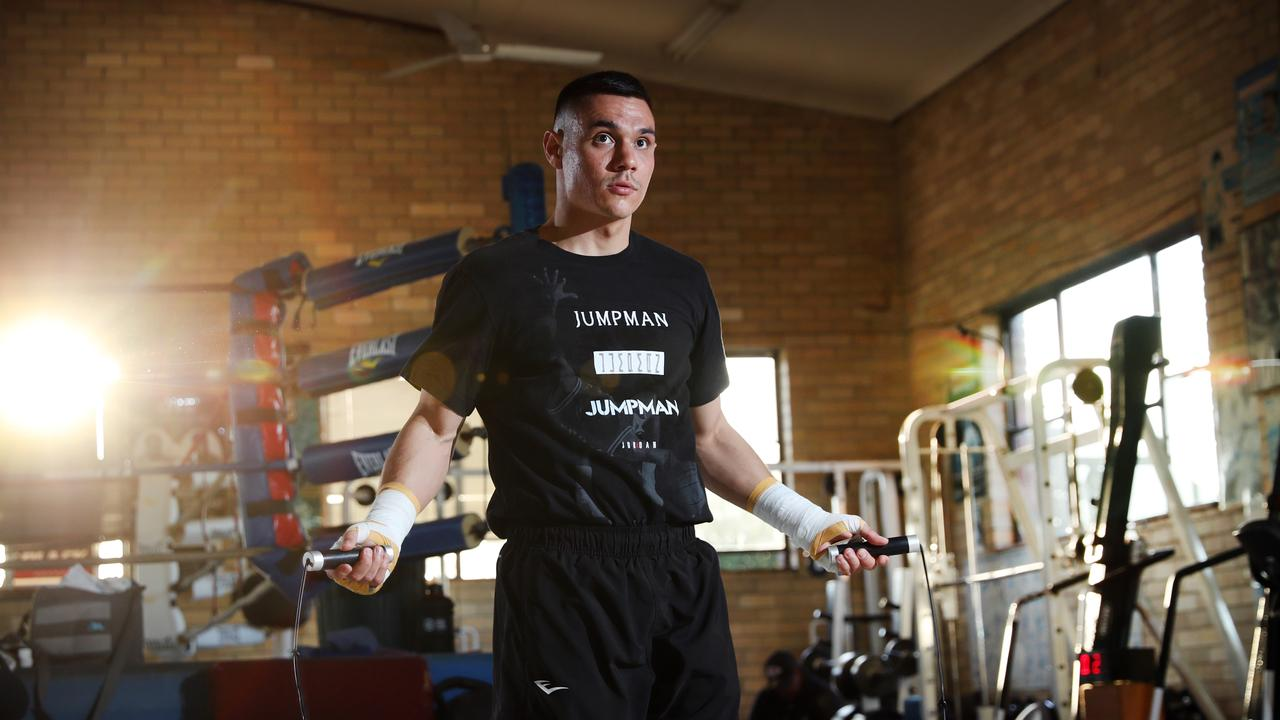 EMBARGOED FOR SATURDAY 5th JUNE Pictured at the Tszyu Boxing Gym in Rockdale is Tim Tszyu in a training session ahead of his July 7th fight against Michael Zerafa. Picture: Richard Dobson