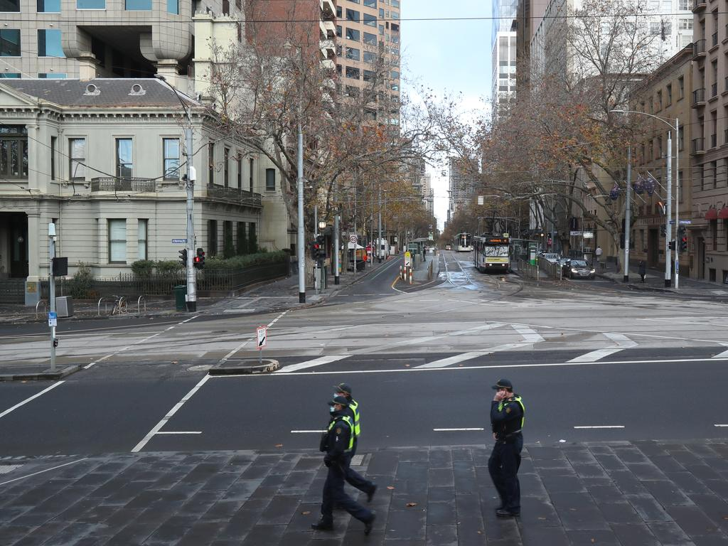The lockdown remains in place for Greater Melbourne. Picture: NCA NewsWire / David Crosling