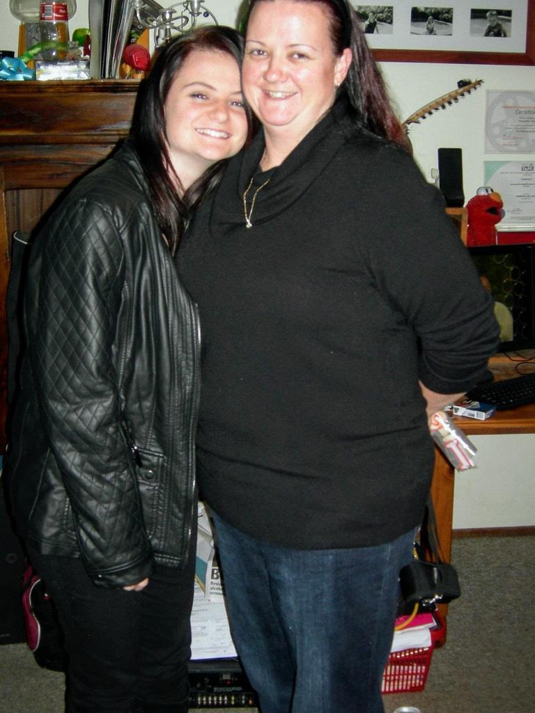 Kiama girl Courtney Love with her mum Vanessa.