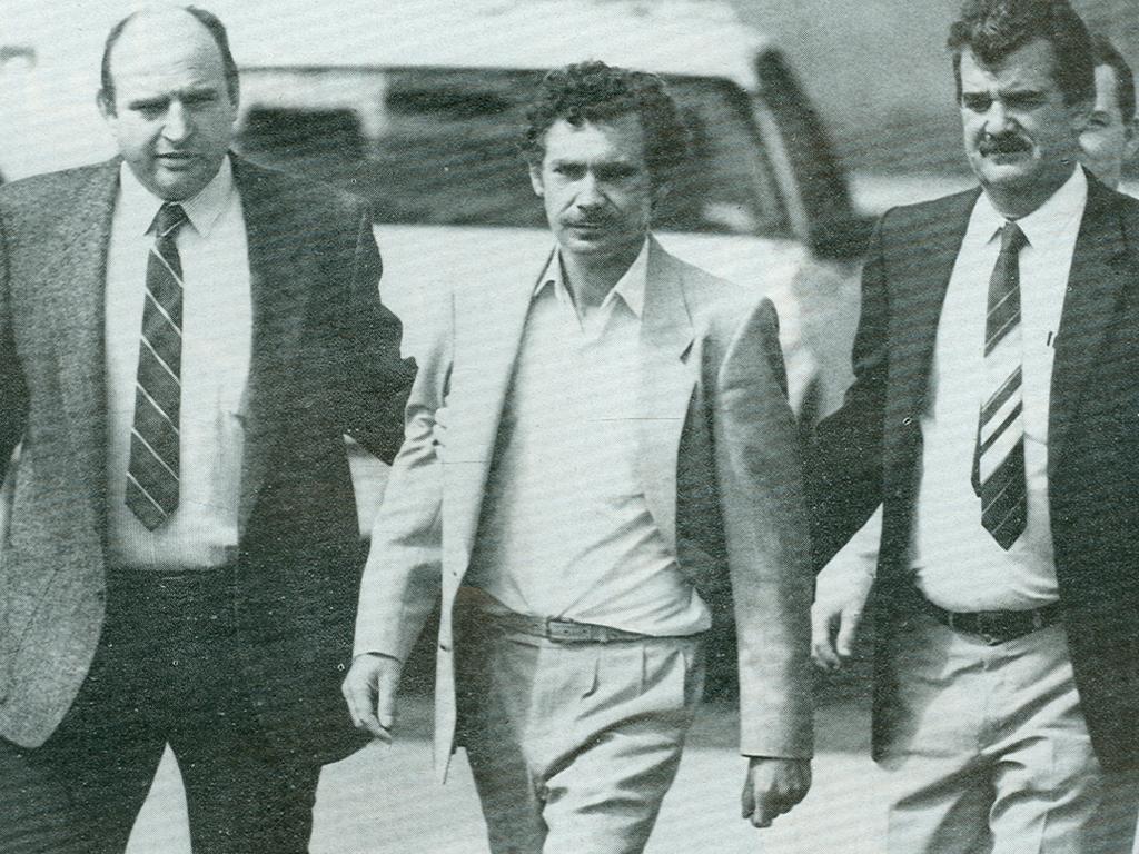 Barrie Watts is arrested in December 1987.