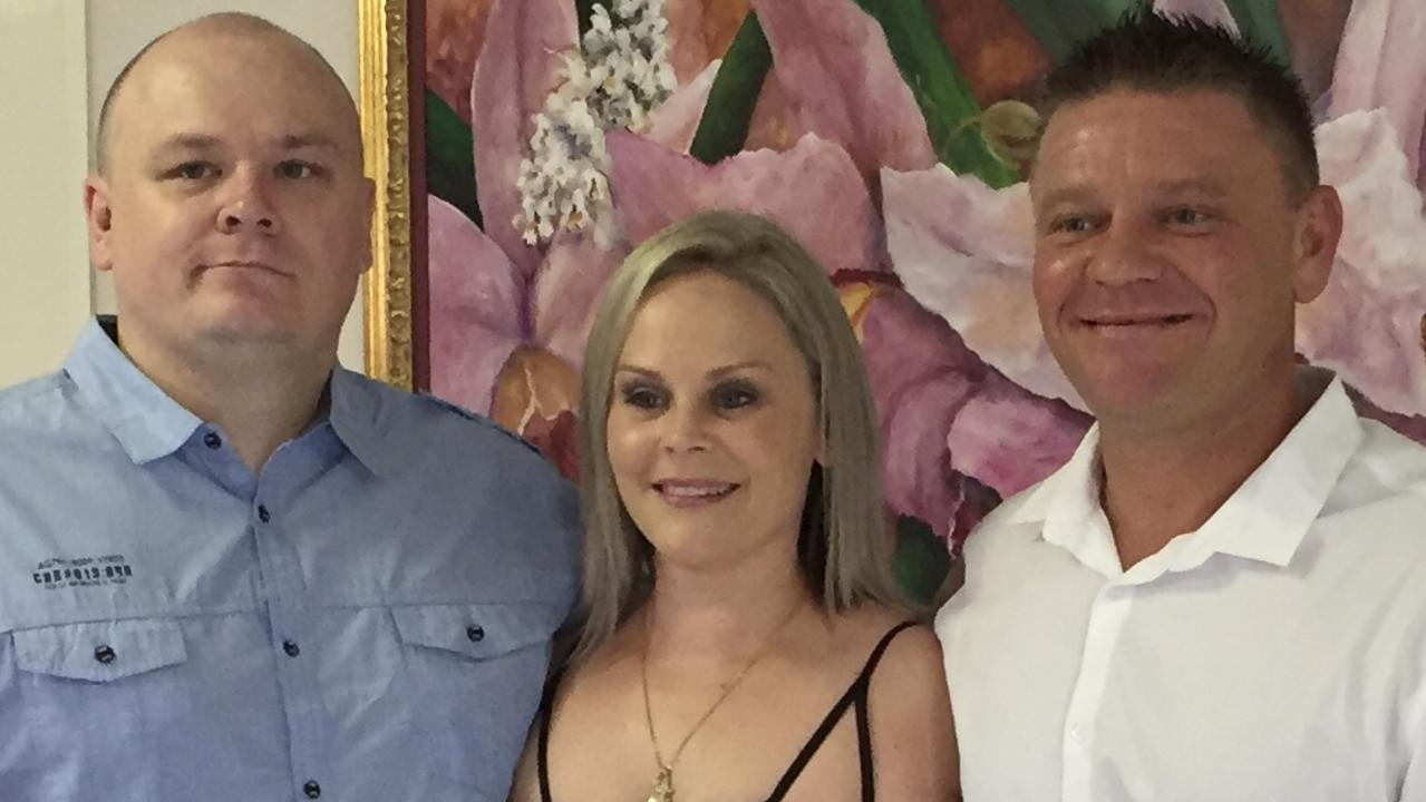 Glenn Dudley (R) with siblings Shane and Lyndell. Picture: Janice Dudley