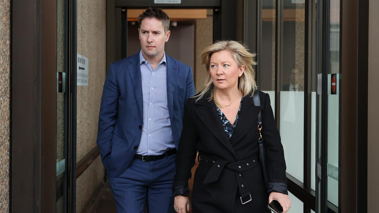 Sydney Morning Herald editor Lisa Davies and Nine's Executive Editor of Australian Metro Publishing James Chessell leave Federal Court. Picture: NCA NewsWire / Dylan Coker