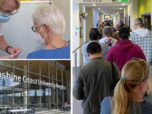 Hundreds queue for Covid jab across the Coast