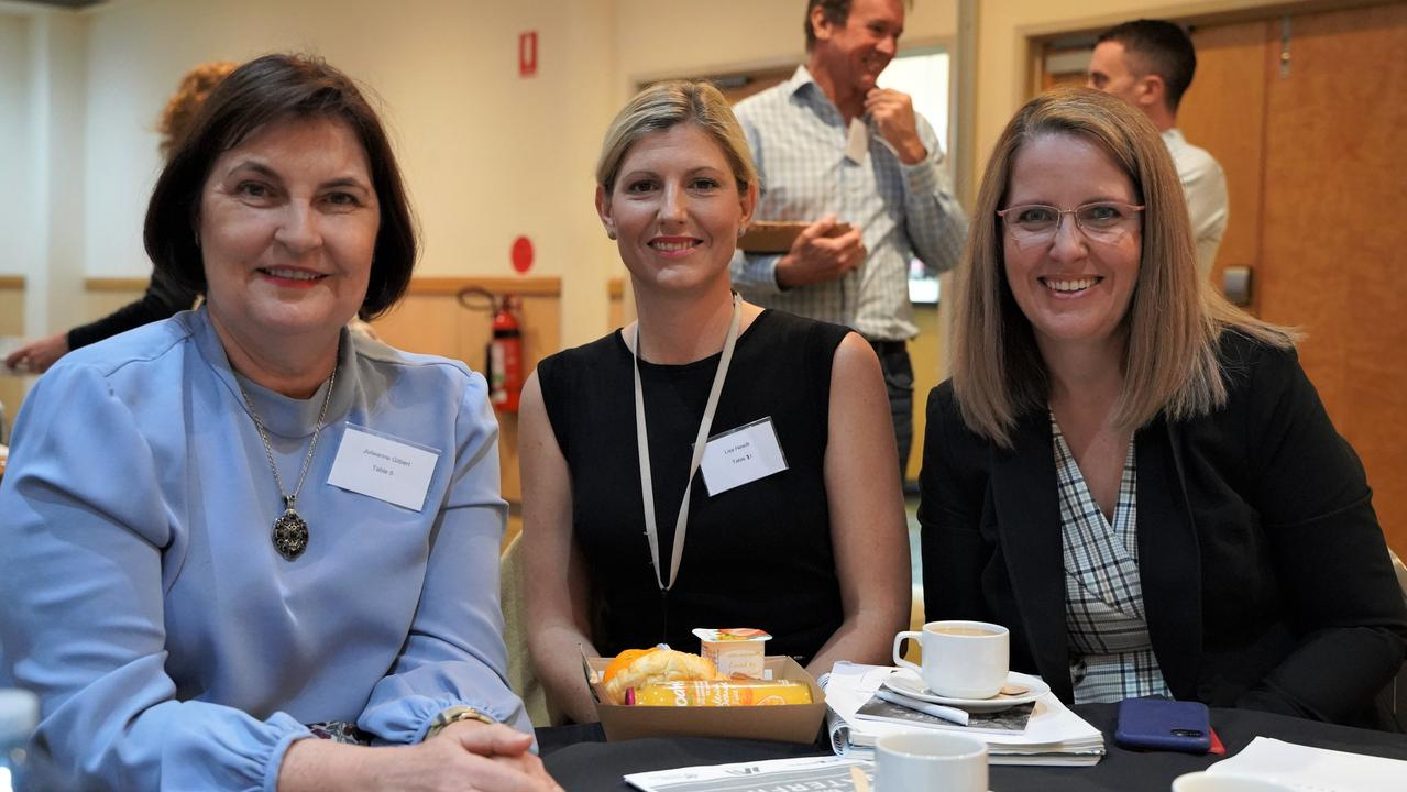 Mackay MP Julieanne Gilbert with ANZ North Queensland regional executive Lisa Hewitt and Helloworld Mackay general manager Annabel Dolphin at a think tank to revive Mackay's city centre. Picture: Heidi Petith