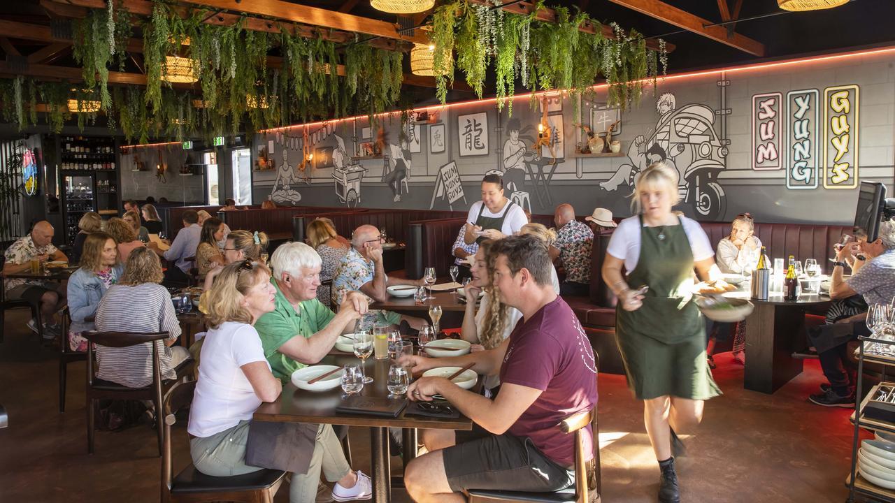 Interior at the new Sum Yung Guys restaurant at Noosaville. Picture: Lachie Millard