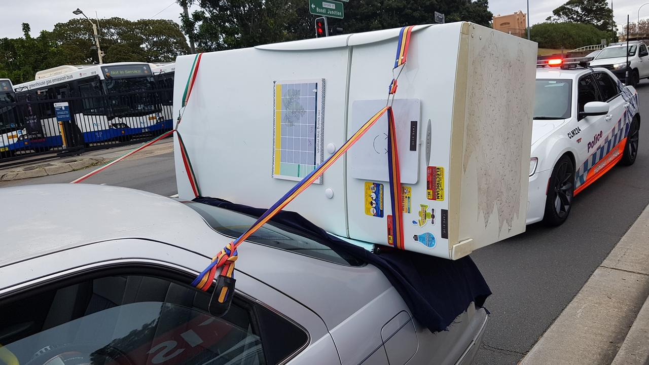"""Police have blasted a driver for their """"dangerous"""" transport method. Picture: NSW Police"""