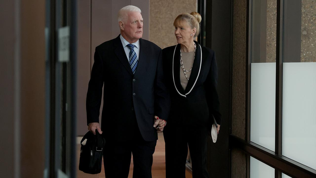 The parents of Ben Roberts-Smith, Len and Sue Roberts-Smith depart the Federal Court of Australia. Picture: NCA NewsWire / Dylan Coker