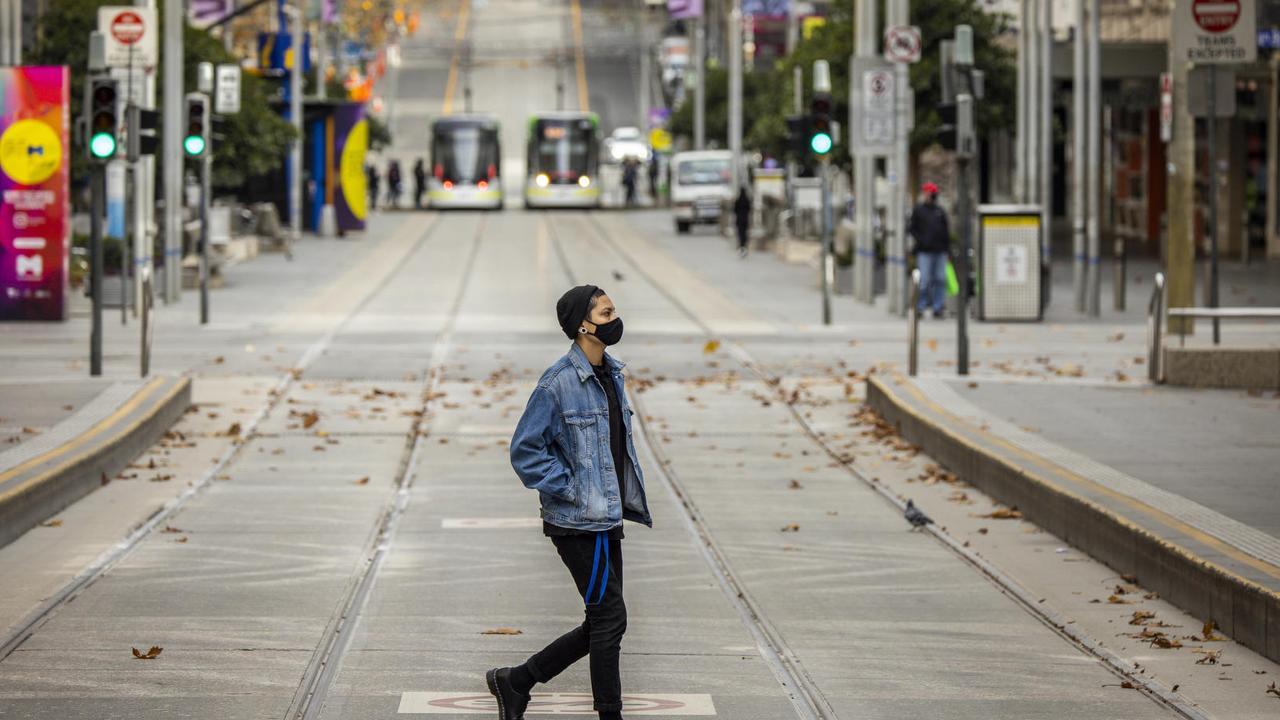 A deserted Melbourne CBD. Picture: NCA NewsWire / Wayne Taylor