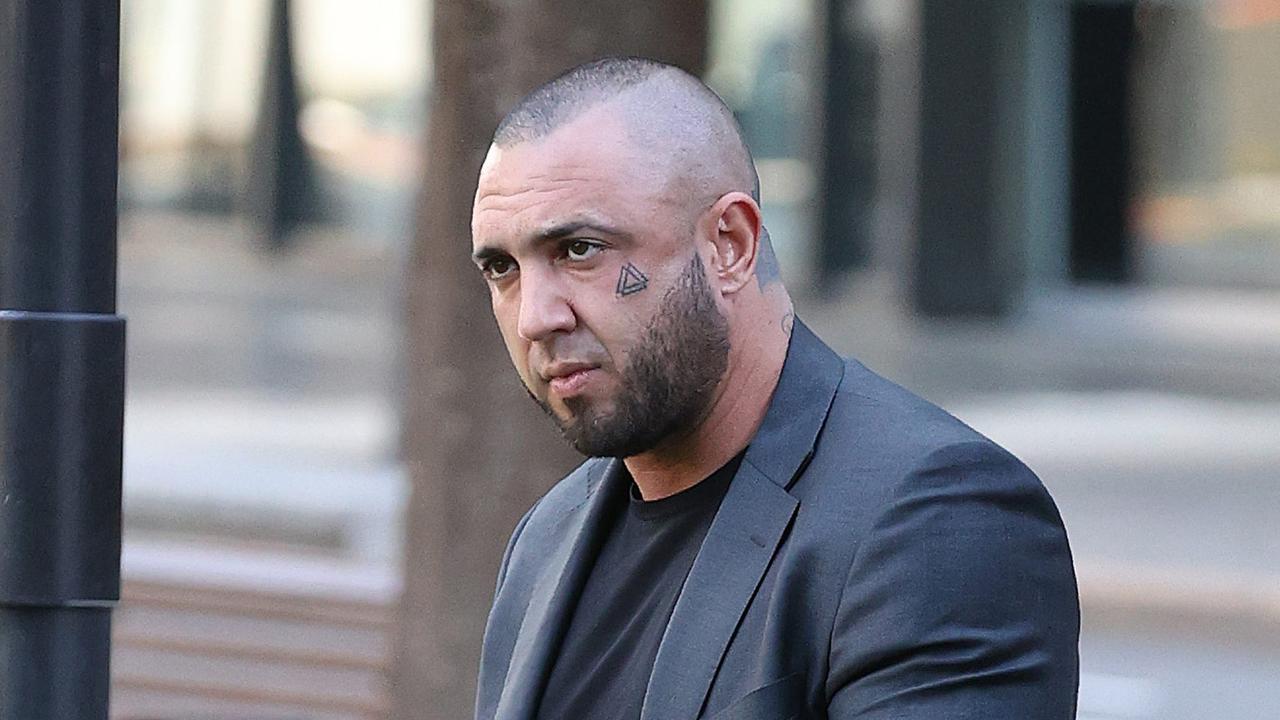 Joshua John Lucey arrives outside Brisbane District Court.