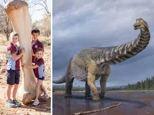 Qld's B-double sized dinosaur stomps into the record books