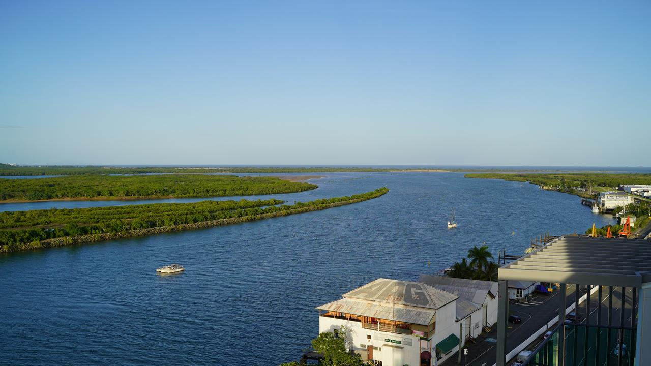 Mackay's blue Pioneer River is a big focus of the Waterfront Priority Development Area project. Picture: Heidi Petith