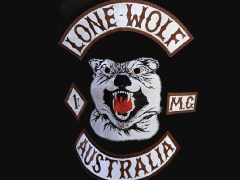 The Lone Wolfs bikie gang feature in exchanges of encrypted messages on the AN0M app used by police. Picture: Supplied