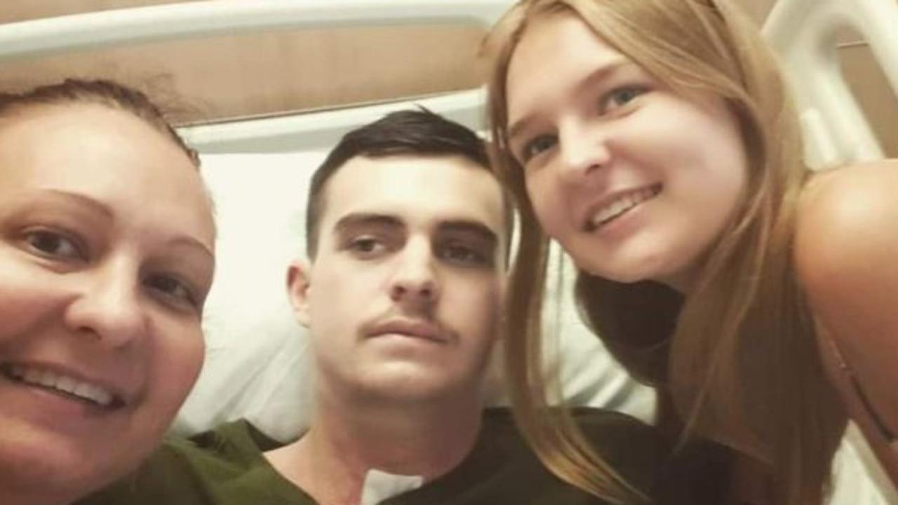 Zac Longfield at Gold Coast University Hospital. Photo: GoFundMe