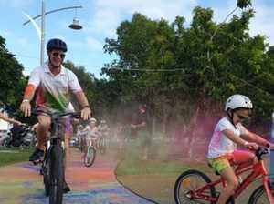 Raising awareness for a wheelie good cause at colour ride